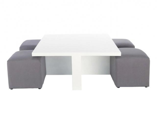table basse avec pouf rangement venus