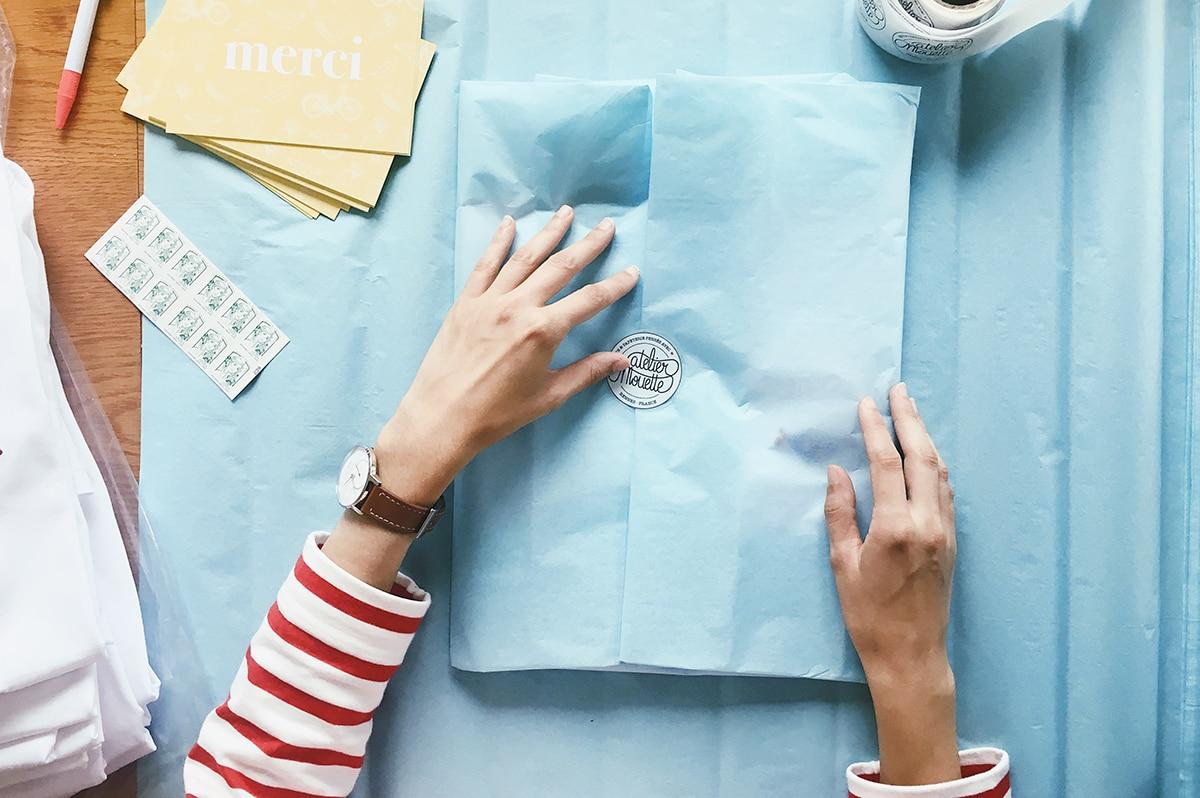 L'Atelier Mouette : gérer une boutique, envois, frais, stock...