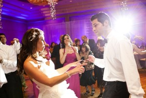 A couple dancing on a wedding