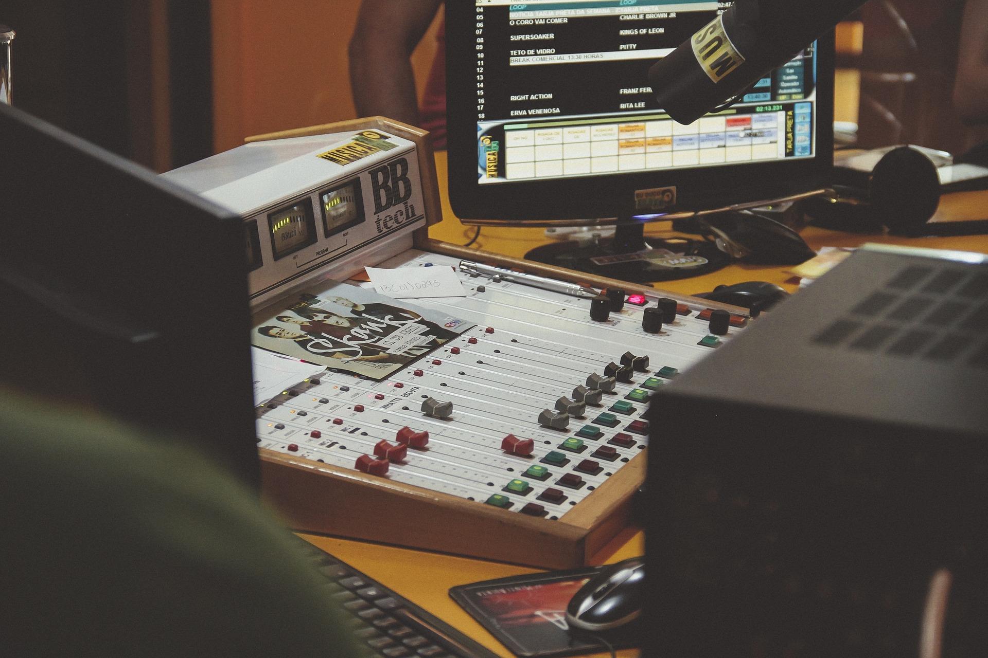 audio enginner's work desk