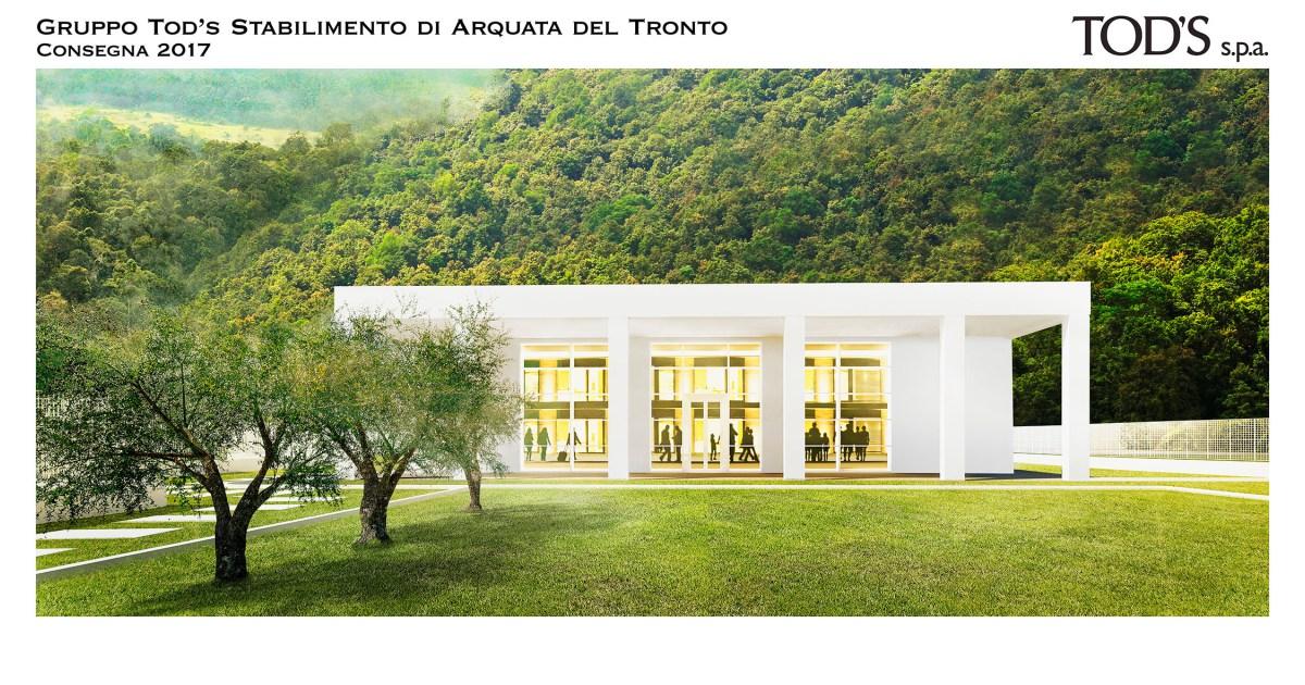 Arquata del Tronto, Gentiloni visita stabilimento Tod's: