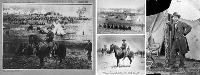 Général Ulysses Grant au front, montage à partir de 3 photos.