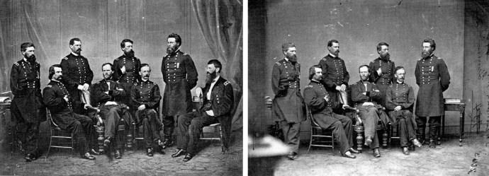 le général <em>Sherman</em> pose avec ses généraux + 1 invité surprise