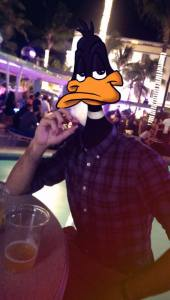 InstaCartoon_Daffy having a cigar_crédit photo Instagram Alexandre De Vries, Tpex85