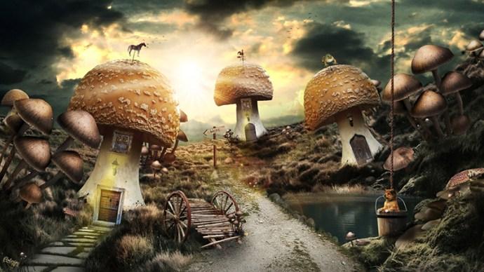"""A mushroom tale par Lewis Moorhead """"Flew Design"""" sur le blog La Retouche photo"""
