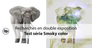 Recherche en double exposition, test série Smoky color dans Photoshop, sur le blog La Retouche photo.