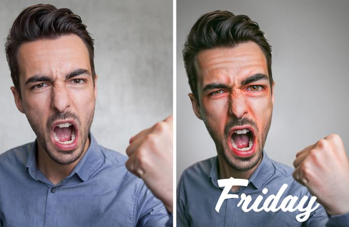 Friday week portrait quotes par le retoucheur photo Alexandre De Vries
