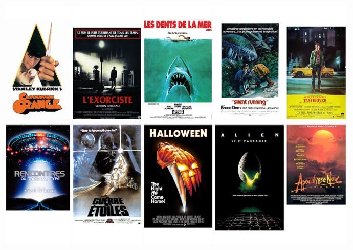 TOP 30 AFFICHES FILMS 1970, sur le blog La Retouche photo
