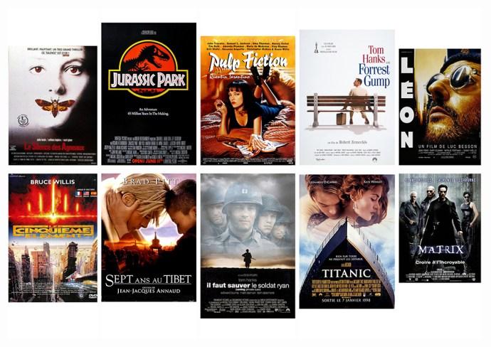 Top 30 des affiches de film de 1990, sur le blog La Retouche photo