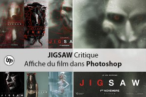 Jigsaw critique de l'affiche du filmm, sur le blog La Retouche photo.