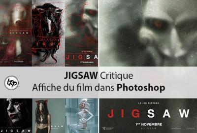 Jigsaw critique de l'affiche du filmm, sur le blog La Retouche photo.