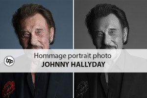 Johnny Hallyday hommage retouche portrait photo dans Photoshop