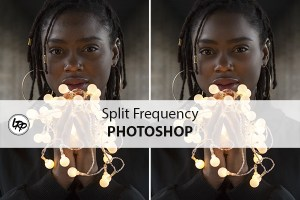 Split frequency dans Photoshop, sur le blog La Retouche photo.
