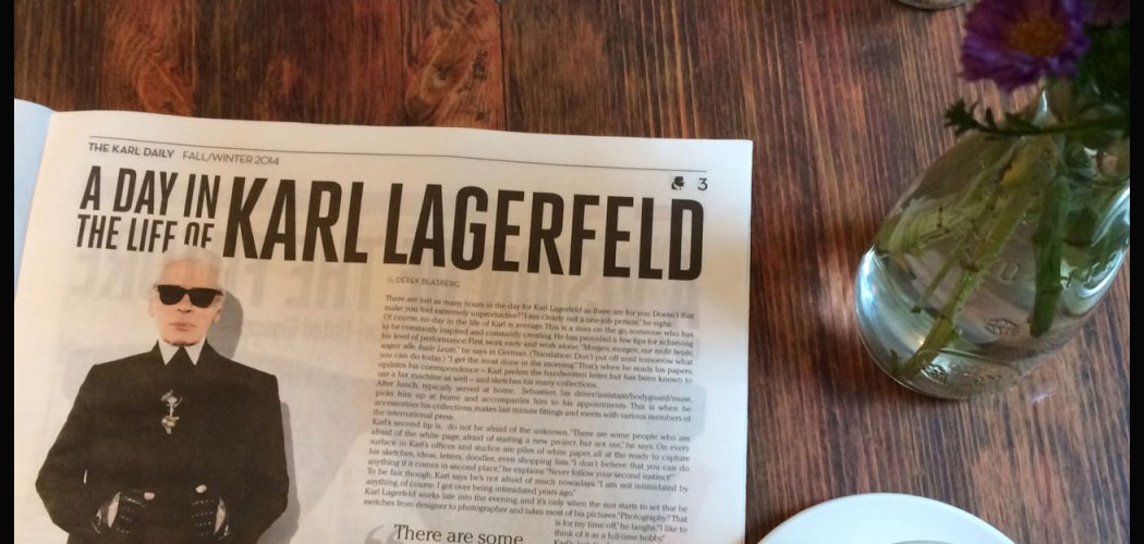 karl Lagergeld a la une dans the karl daily