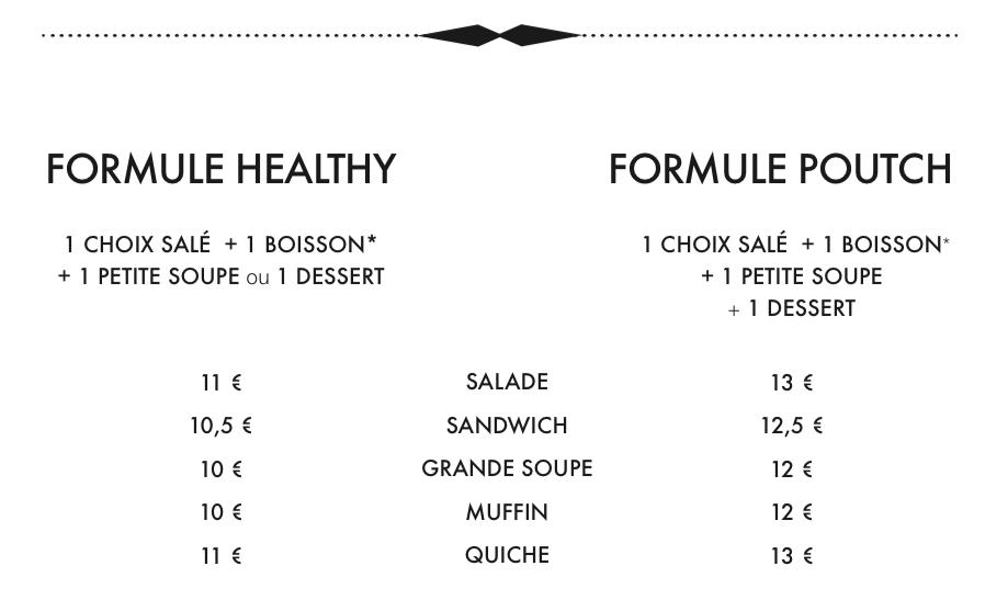 Formules Déjeuner Le poutch Paris
