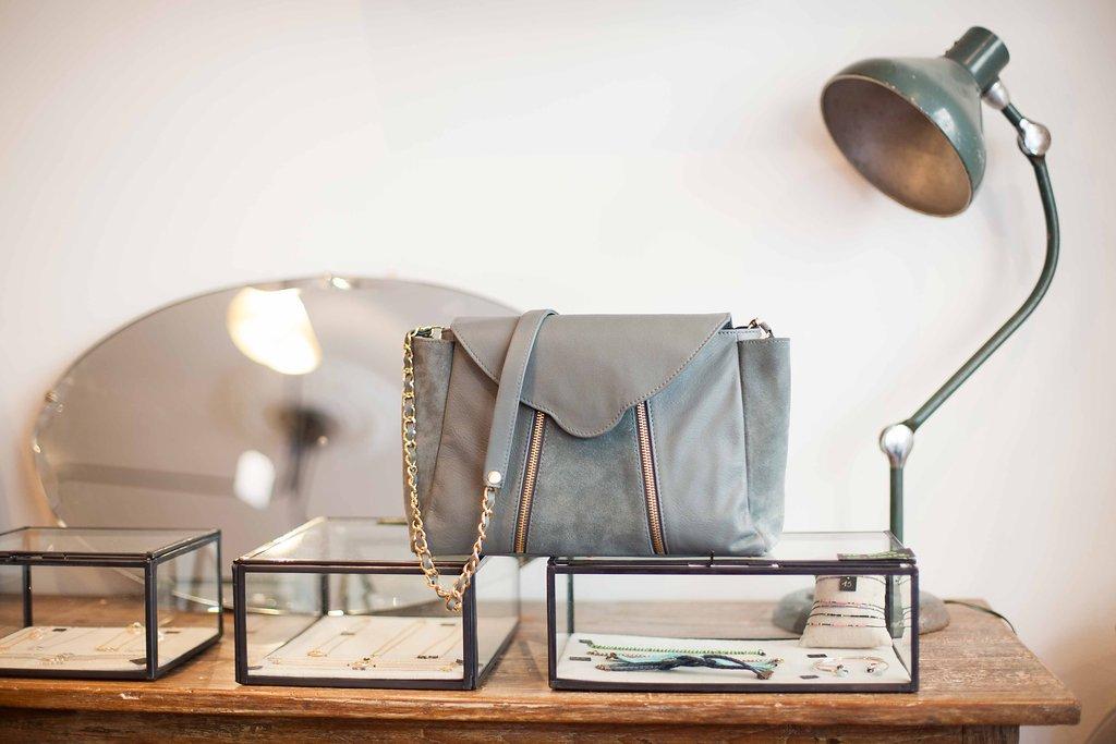 sac india bleu gris le bazar exquis créateur