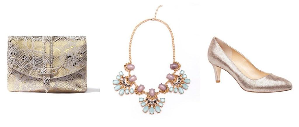 Accessoires-chaussures-pochettes-doré-mariage-