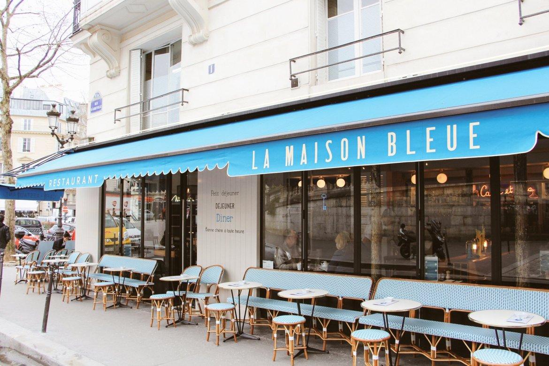 la maison bleue terrasse paris place fritz 10e