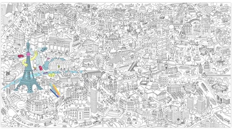 coloriage mural gant du grand paris - Coloriage De Grand