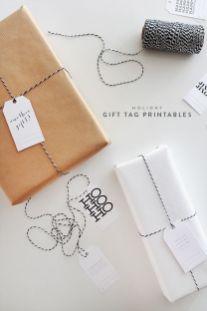 idees paquets cadeaux noel emballages rubans kraft printable