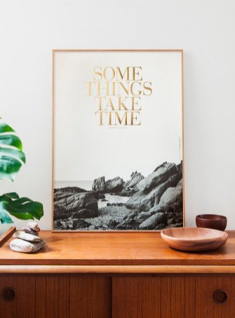 affiche art print some things take time congo studio etsy