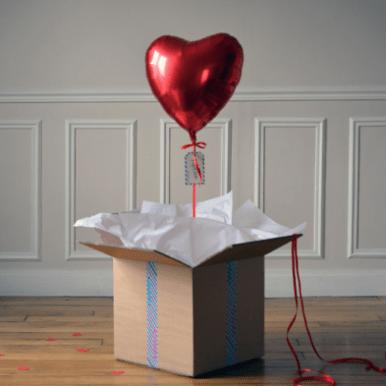 ballon-cadeau-coeur-rouge pop up case idee cadeau saint valentin