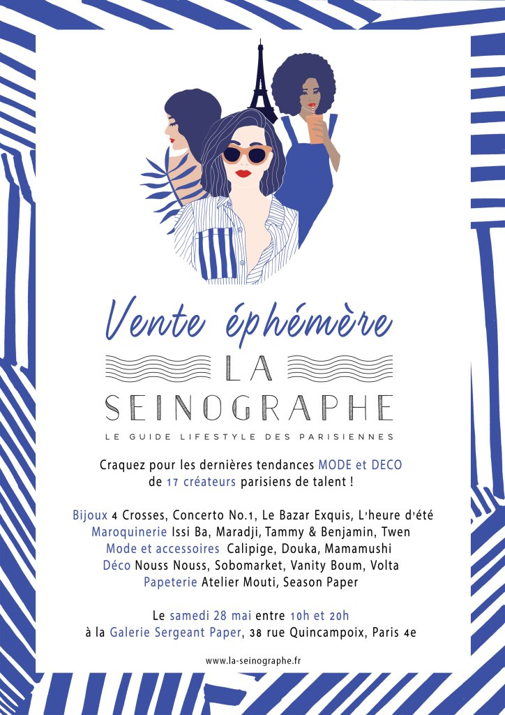 Invitation vente ephemere La Seinographe