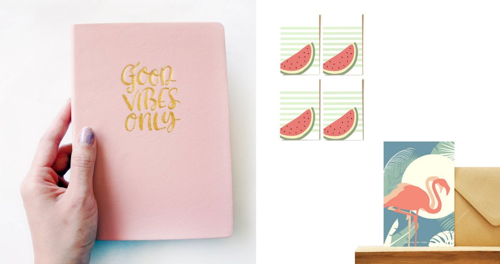 carnet-agenda-message-good-vibes-only