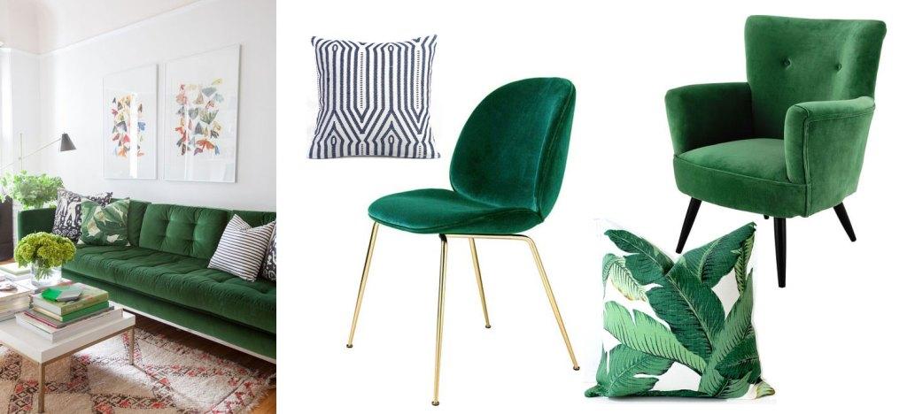 canape-velours-vert-coussin-motif-palmiers