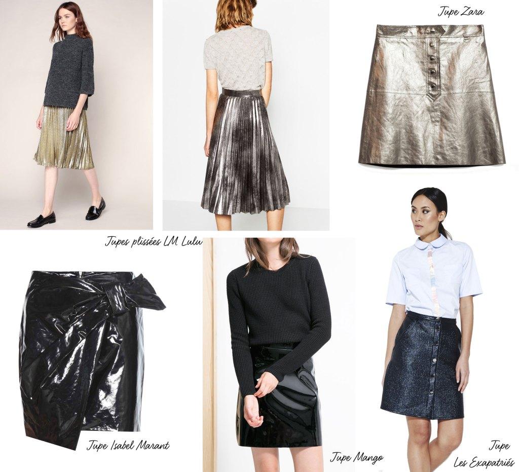 shopping-mode-rentree-jupe-plisse-lame-cuir-vinyle