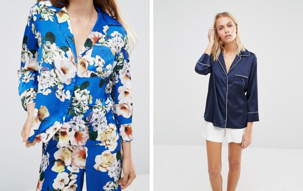 Chemise_style_pyjama_soie_bleu-marine_imprime_fleurs