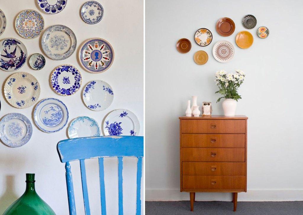 inspiration-deco-murale-assiettes-porcelaine-vintage