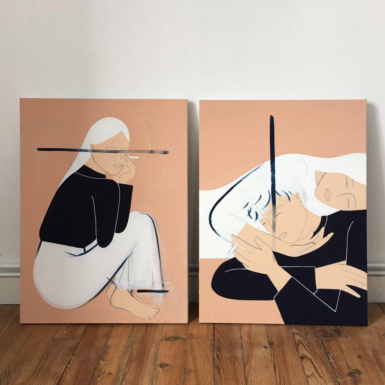 johanna olk oeuvres peintures femmes
