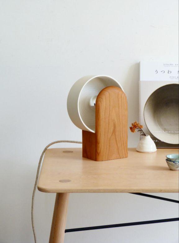 Lampe pok ambre ceramique bois porcelaine_new beginnings
