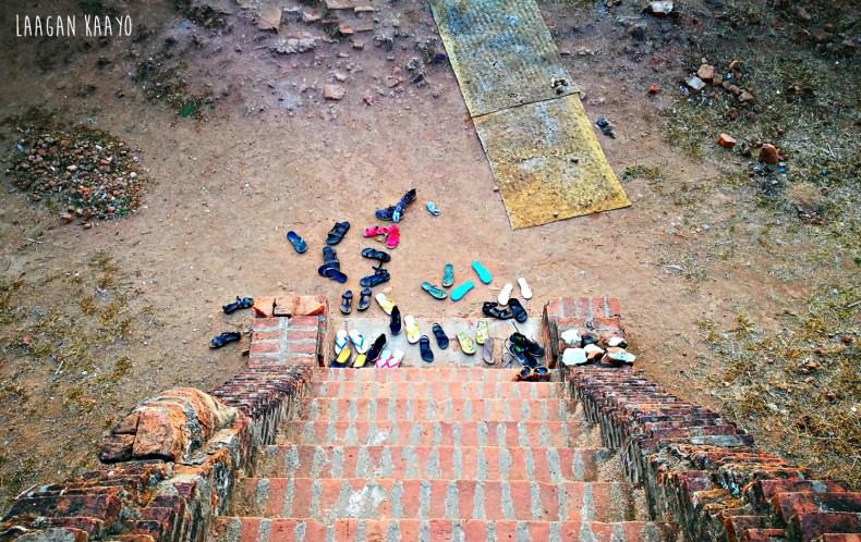 No footwear allowed on Temples in Myanmar