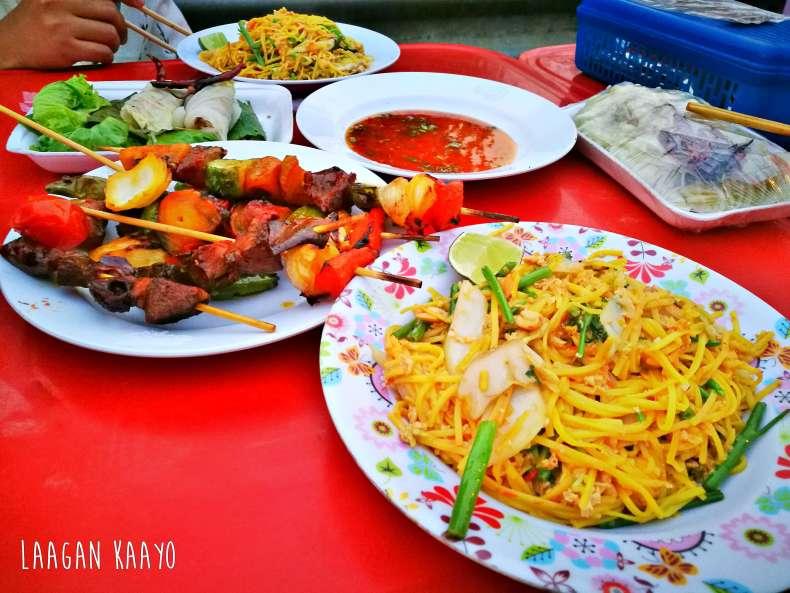 local food Houayxay, Laos