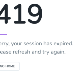 Laravel 419 error