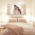 sacra famiglia quadro moderno arredare articolo da regalo matrimonio capezzale capoletto camera da letto dipinto shabby chic arredare