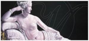 quadro moderno con statue su tela paolina borghese