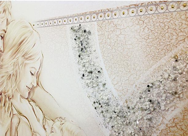 quadro su tela moderno sul letto non sacro - Montmartre Studio D'Arte