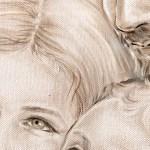 DESIGN911 quadro capezzale su tela moderno famiglia non sacro
