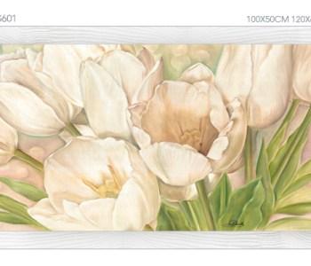 FLOWERS601 quadro moderno su tela con fiori floreale tulipani