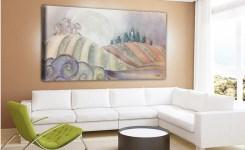 PAESAGGIO04 Quadro moderno con paesaggio su tela