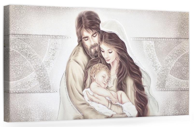 PRESTIGE201 Capezzale quadro moderno su tela sacro sacra famiglia per la camera da letto