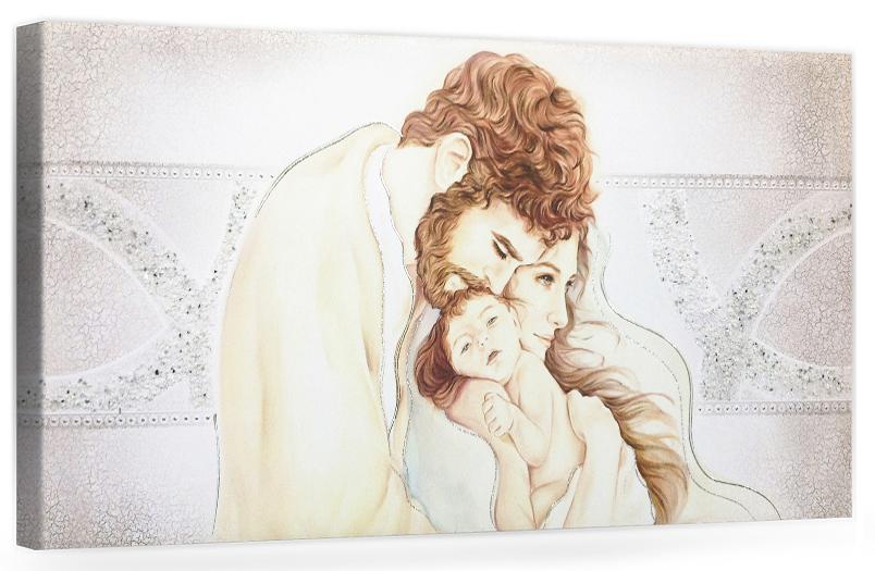 PRESTIGE202 Capezzale quadro moderno su tela sacro sacra famiglia per la camera da letto