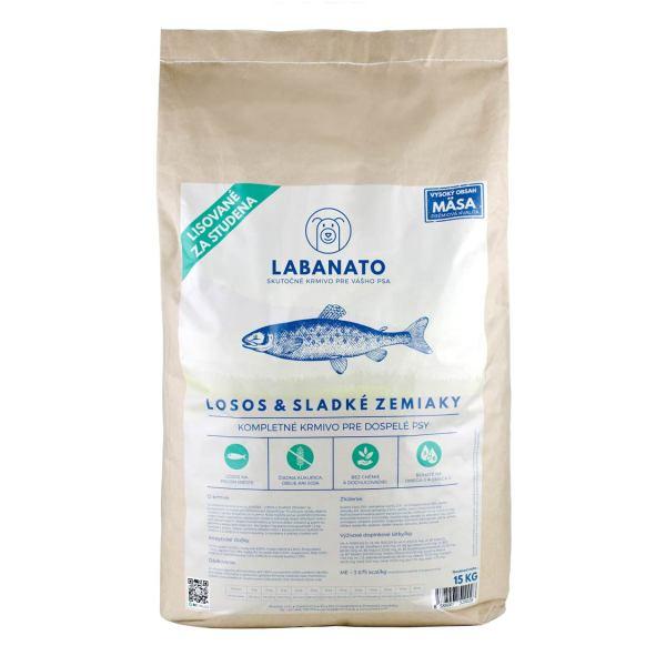 granuly granule krmivo pre psov lisované za studena LABANATO - Losos & Sladké zemiaky 15kg