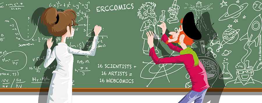 Science + Comics = ERCcOMICS
