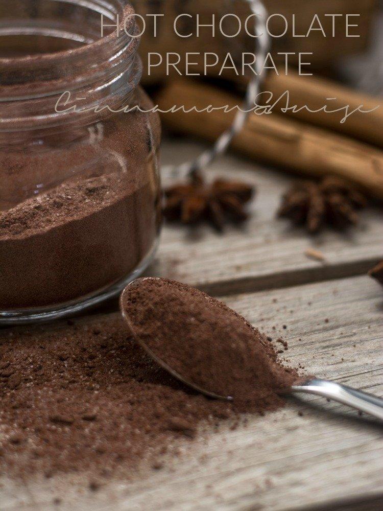 hot chocolate preparate cinnamon and anise