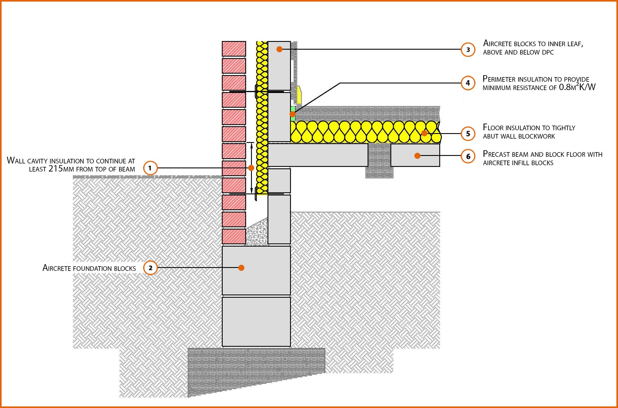 E5mcpf20 Suspended Beam And Block Floor Insulation Above