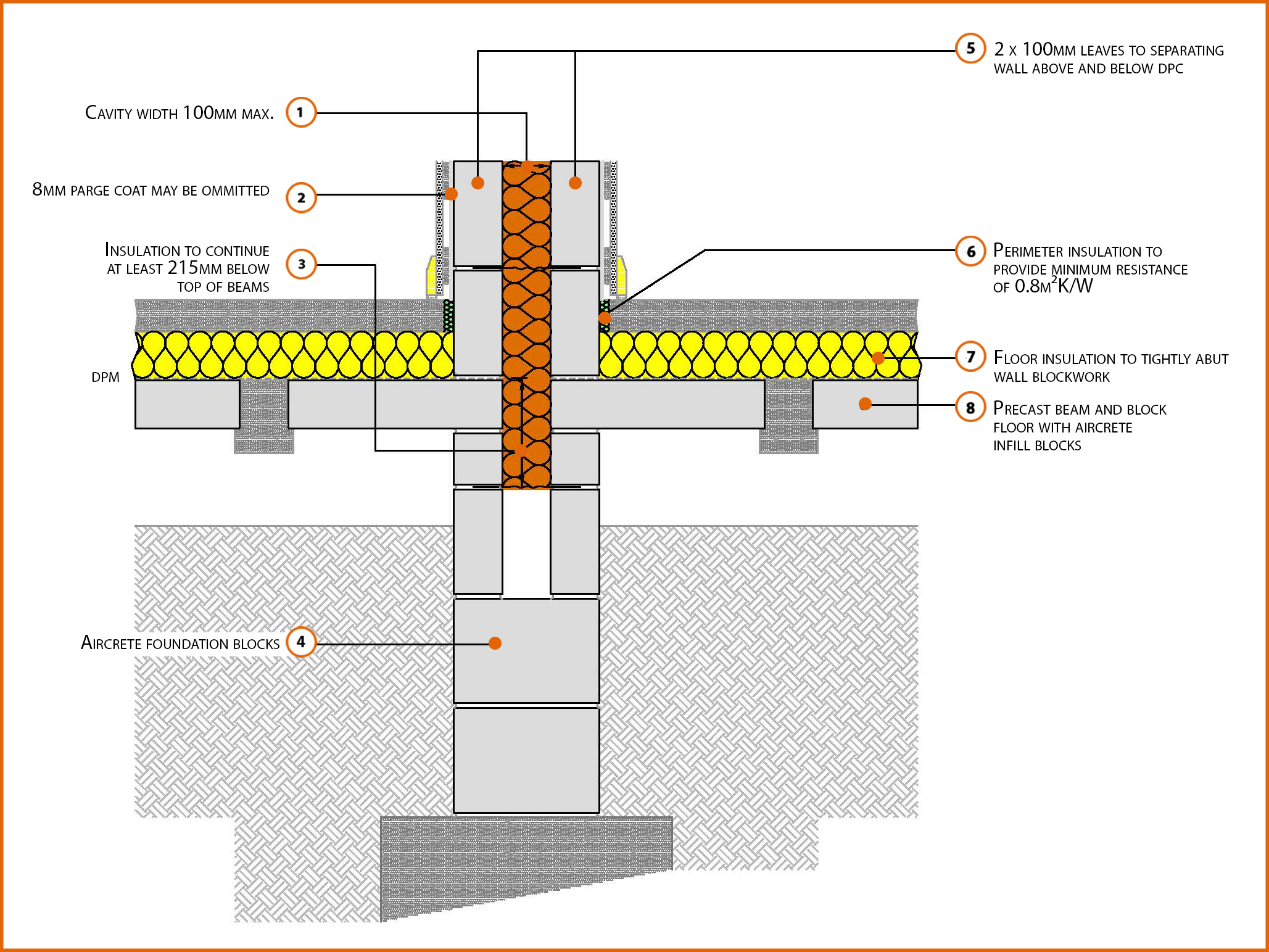 P1pcff1 Suspended Beam And Block Floor Insulation Above